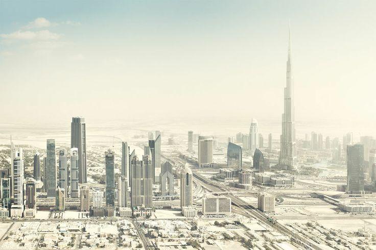 Aerial view of the surreal world of the desert city of Dubai. ( Johannes Heuckeroth, Germany, 2013 Sony World Photography Awards) #dubai #uae