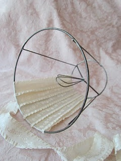 Covering a lampshade frame with ribbon - I always thought this would work!