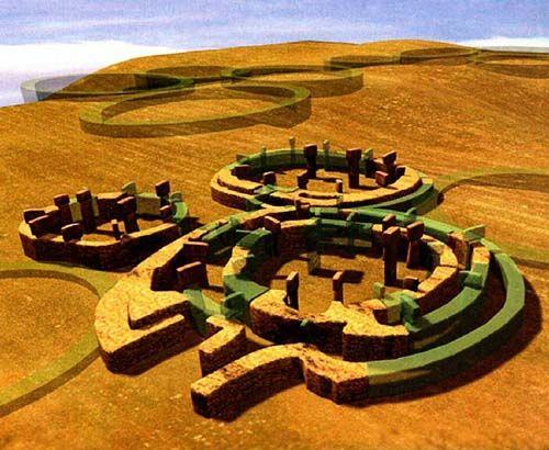 """Göbekli Tepe  (en turco """"Colina panzuda"""" ) es un antiguo santuario que se levanta en el punto más alto de una extensa cadena montañosa situa..."""
