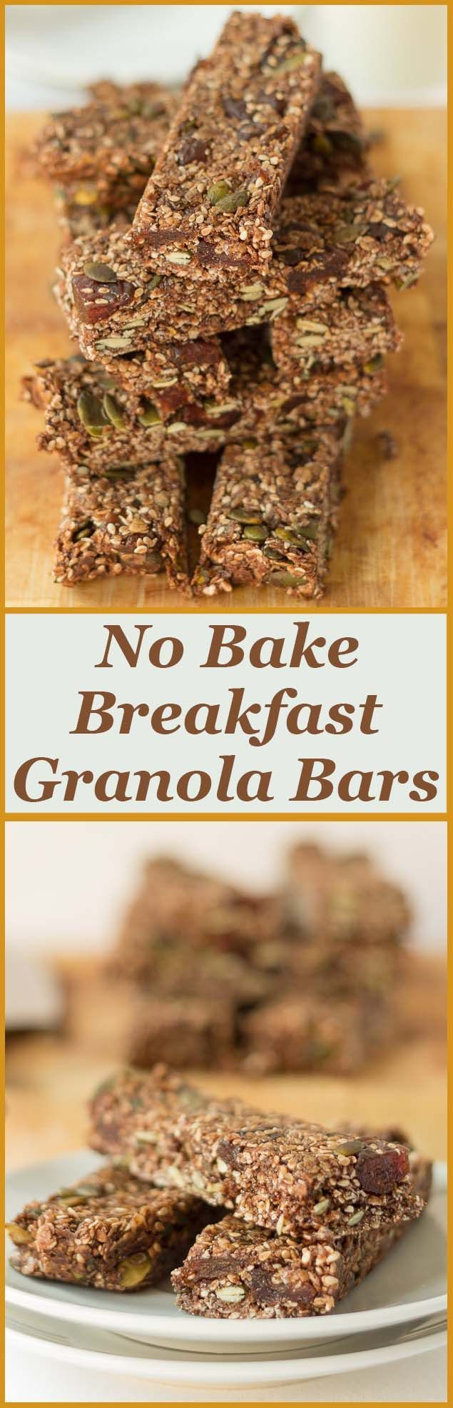 No bake breakfast granola bars, low calorie, nut free, easy to make, full of healthy natural goodness with a fantastic light chocolate taste as well. #healthy