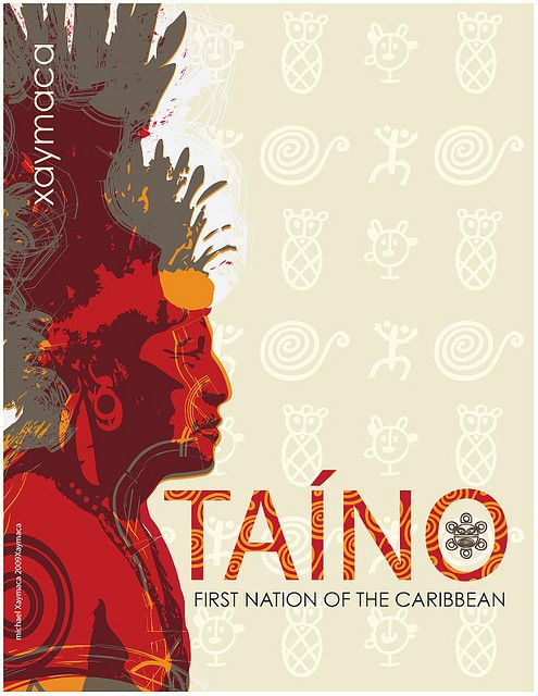 TAINO Nation of Jamaica (xaymaca -roughly, Land of Wood & Water):    Arawak was the language of the first settlers on the island of Jamaica, the Tainos. The Tainos arrived in Jamaica somewhere near 600 AD. It is assumed that the Tainos were the natives of the northern coast of South America.