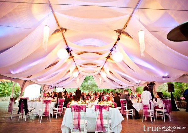 San Diego Wedding Photography Of Tent With Purple Lights By Music Phreek DJ And Lighting At
