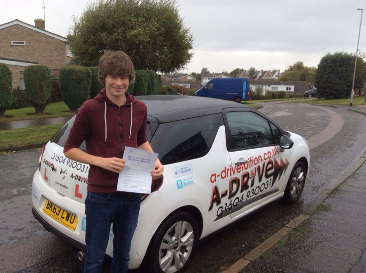 """1ST TIME DRIVING TEST PASS AGAIN!!!!!  A massive congratulations to Jack White of Northampton College who passed his practical driving test 1st time 9/10/14 with only 6 minor driving faults at Northampton Driving a Test Centre with Andrew Batty of A-Drive.  Jack also attended our under 17 driving experience beforehand.   Jack said """"I was really pleased to pass 1st time with Andrew, he was a great because he was calm and reassuring, giving clear instructions. I am so grateful, thank you…"""