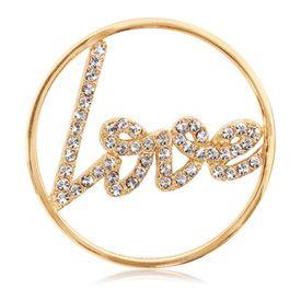 LOVE coin with Swarovski crystal accents... #NikkiLissoni #janesjewelers