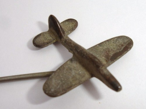 Trench art spitfire stick pin