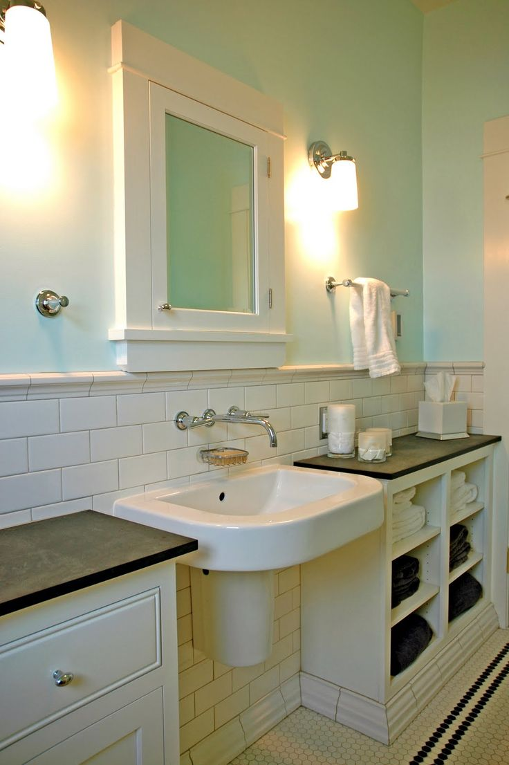 Don't like their sink, but I do like the built-in cabinets on either side for storage.