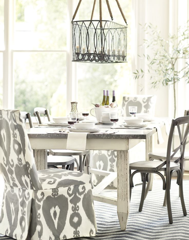 Attractive Gray And White Dining Room From Ballard Designs Great Ideas