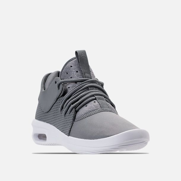 super cute 58430 eede5 Three Quarter view of Boys  Grade School Air Jordan First Class Basketball  Shoes in Cool Grey Cool Grey