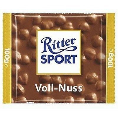 Ritter Sport Mléčná čokoláda s celými praženými jádry lískových ořechů 100g
