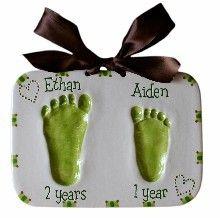 Sibling Impression Baby Handprint Kit...could make this DIY