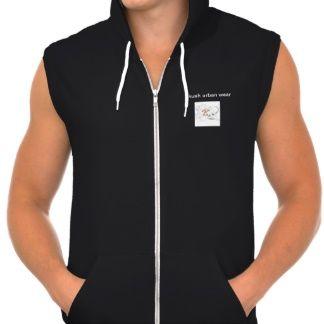 kushurban wear& apperrel mens hooded t-shirt front view desighn v.1