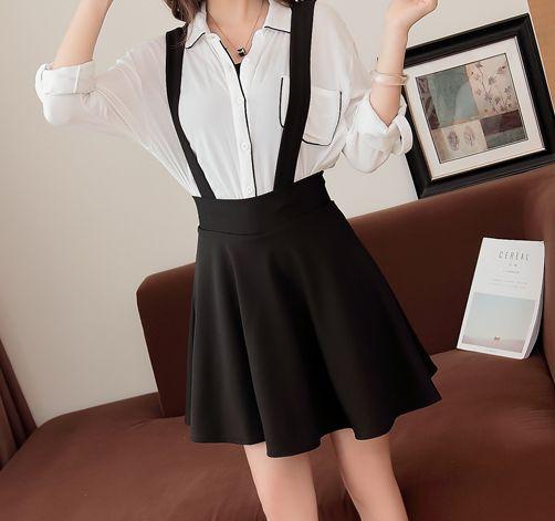 "Black Braces Skirt SE9834      Coupon code ""cutekawaii"" for 10% off"