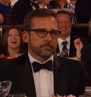 New party member! Tags: golden globes steve carell unamused golden globes 2015