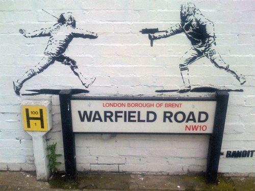 Warfield Road, NW10. #Banksy