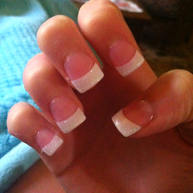 Glitter French tips Beauty: Pinterest - Nail Art Design Ideas Collection