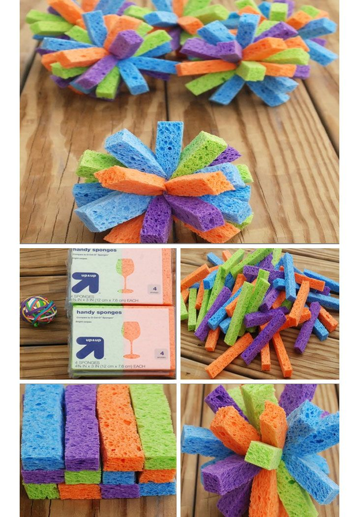 Sponge Water Bombs - Easy Summer Crafts for Toddlers - Click for Tutorial