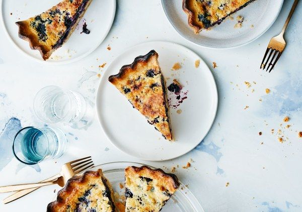 Parbaking the crust of this buttermilk-blueberry pancake–flavored custard pie ensures the bottom will be crisp when it's done.