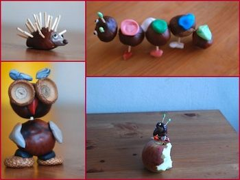 crafting with conkers (chestnuts)