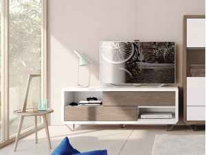 Contemporary 1 Drawer TV Unit by Garcia Sabate Natural Various Finishes