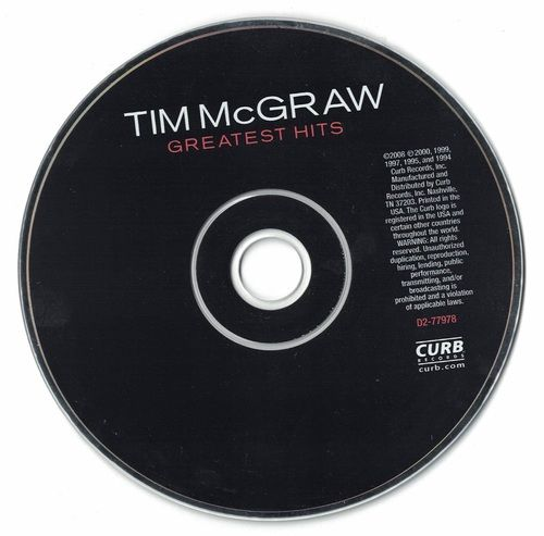 Tim McGraw Greatest Hits 2000 CD Professionally Cleaned