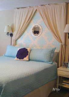 Cute faux headboard idea