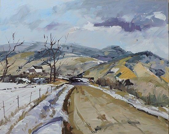 Richard Szkutnik - Winter Road- Oil - Painting entry - November 2016 | BoldBrush Painting Competition