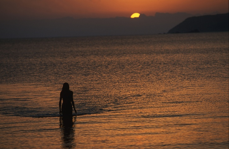 tramonto nella nostra spiaggia Sunset in our beach