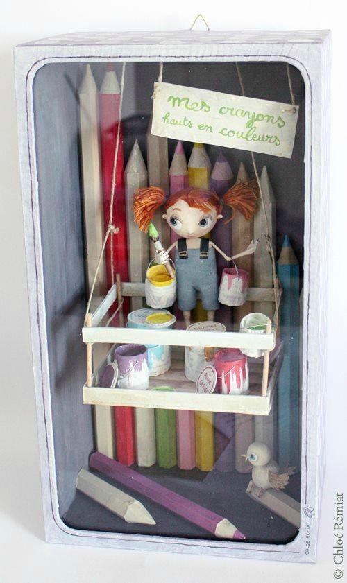"""""""Mes Crayons Hauts en Couleurs"""" - Photo de BOITES ET CADRES DISPONIBLES * Available boxes and frames - Tibout de blog"""