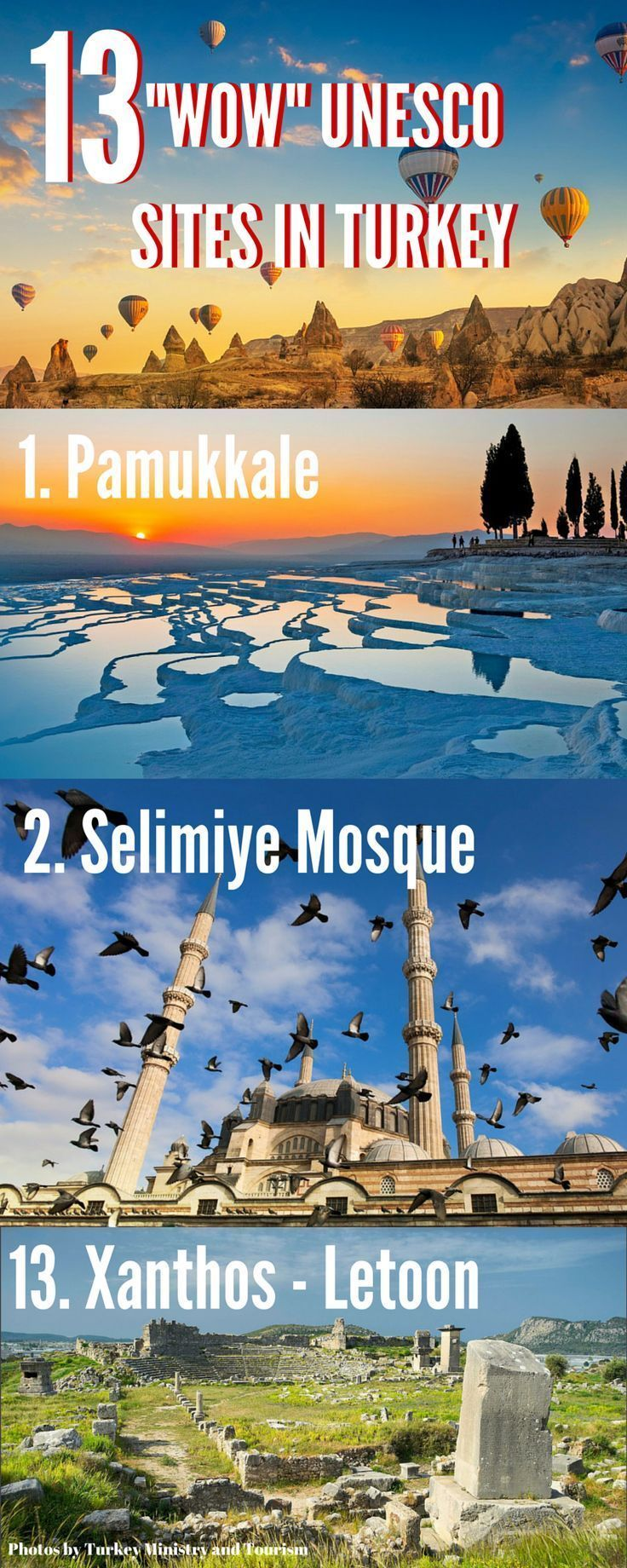 "Check out 13 amazing UNESCO sites in Turkey that will make you go ""Wow."" For more amazing pictures of Turkey follow @turkeyhome. Make sure you go on your great #TurquoiseHunt this summer."