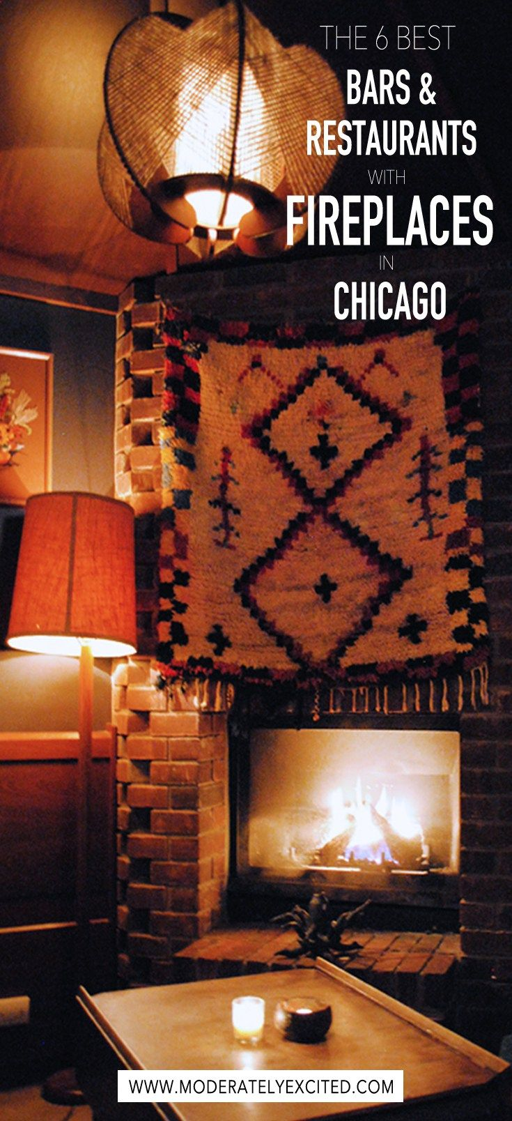A definitive guide to the 6 best fireplaces in Chicago - the coziest bars and restaurants in the city for when you need some hygge in your life. Grab a cocktail or a book and check them out the next time you visit Chicago!