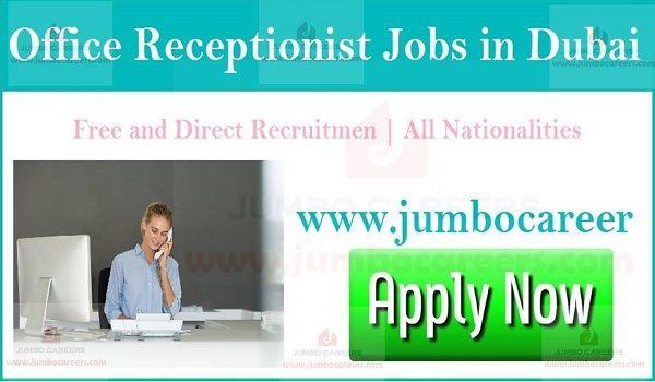 Office Receptionist Walk In Interview In Dubai For January 2019 Receptionist Jobs Receptionist Dubai