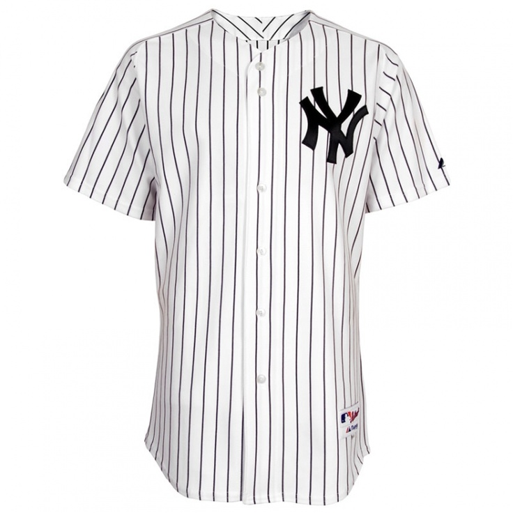 Derek Jeter Jersey: Authentic Big \u0026 Tall Home White Pinstripe New York  Yankees Official 2012 All-Star Game Jersey