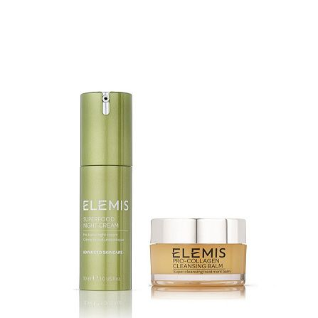 Elemis Superfood Night Cream & Cleansing Balm Replenish Duo order online at QVCUK.com