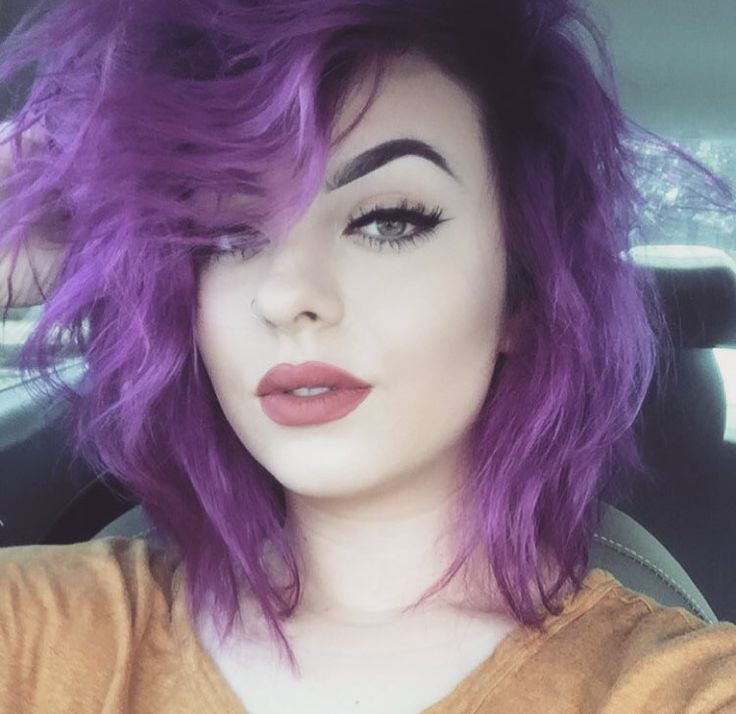 short twa hairstyles : ... Short Purple Hair on Pinterest Short hair colour, Burgundy plum hair