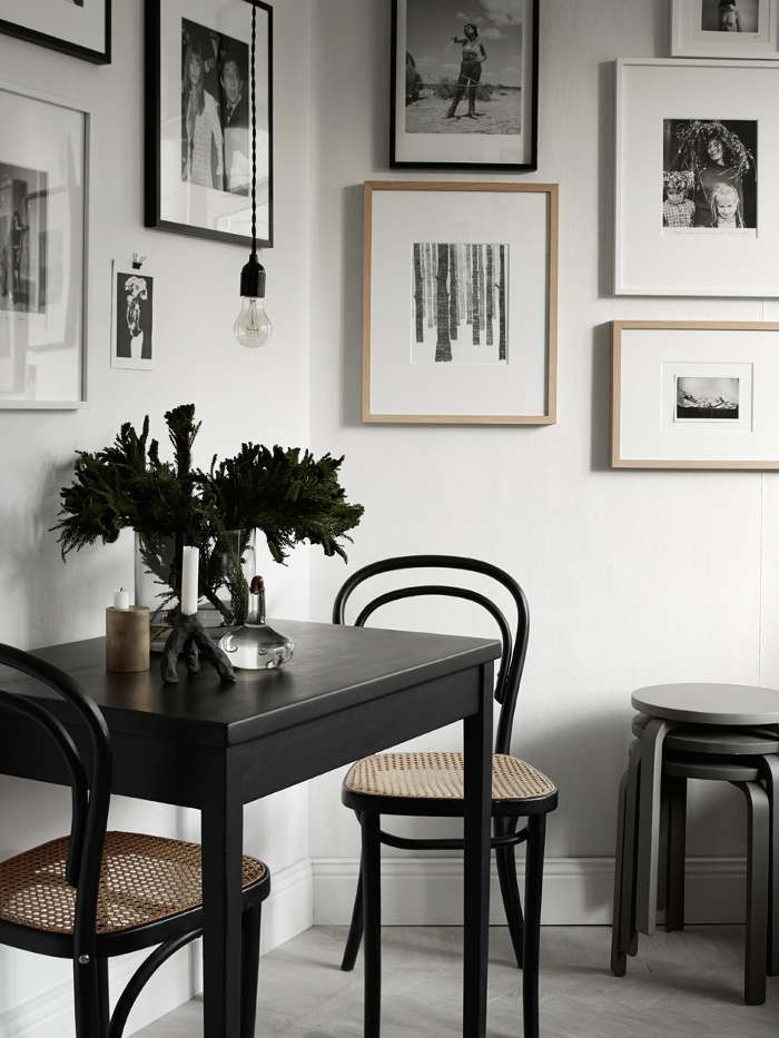 The perfect little dining nook. Complete with the gallery wall of your dreams.