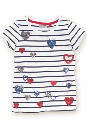 Buy Heart Sequin T-Shirt (3-16yrs) from the Next UK online shop