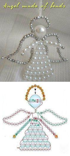 Angel made of beads