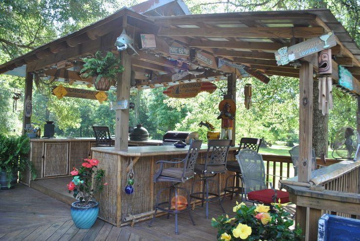 Do It Yourself Outdoor Bar: Back Yard Tiki Bar Pic #22