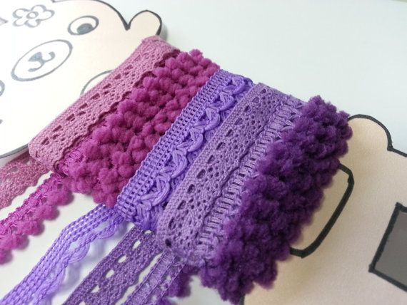 5 yards Purple Violet Trims Lace trim Crochet Lace by ichimylove, $3.99