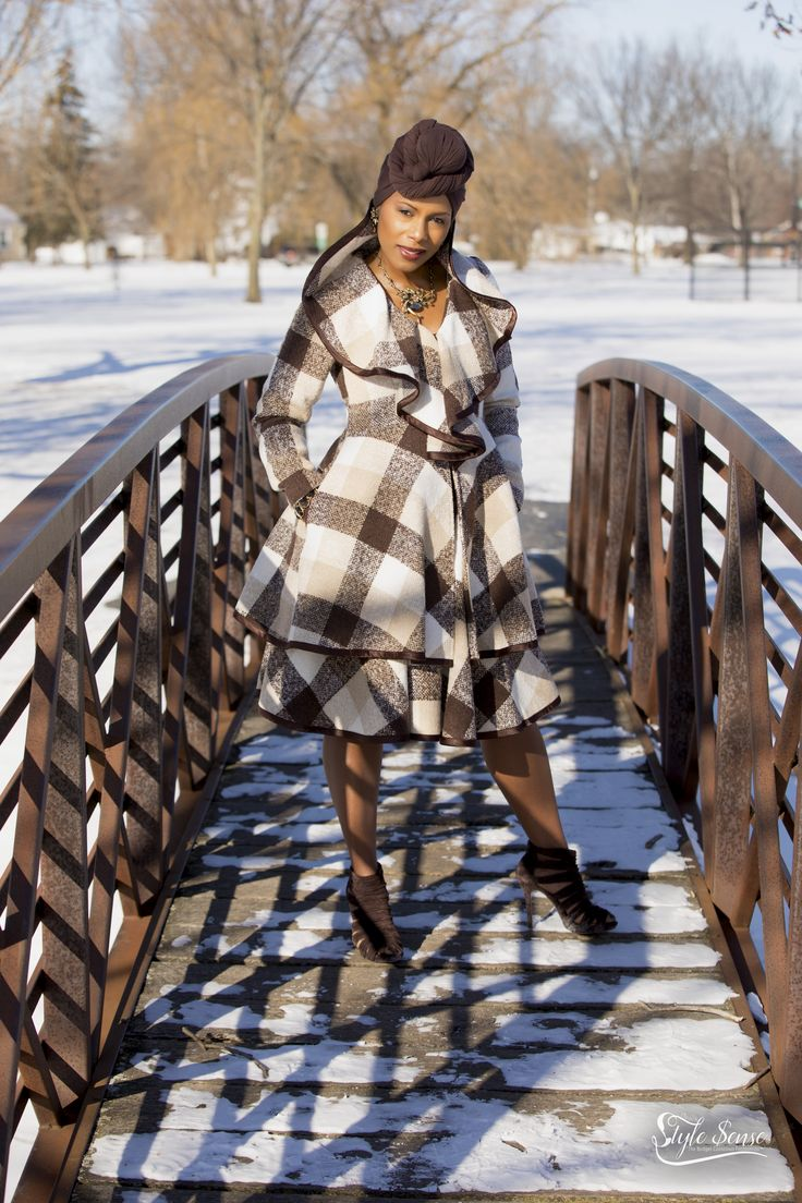 Who said you can't slay on a cold winter day?  You don't have to look frumpy and bundled up…here's how you kick the winter blues.  This outfit will make you excited when the temperatures drop! I purchased this outfit from my favorite boutique Ooh La La Boutique & Spa in Gurnee, IL.  Headwrap is from (Amazon.com $3.99).  Suede booties are from the clearance rack at (BCBG $22.99)!