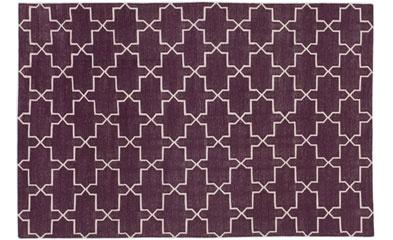 Purple rug design