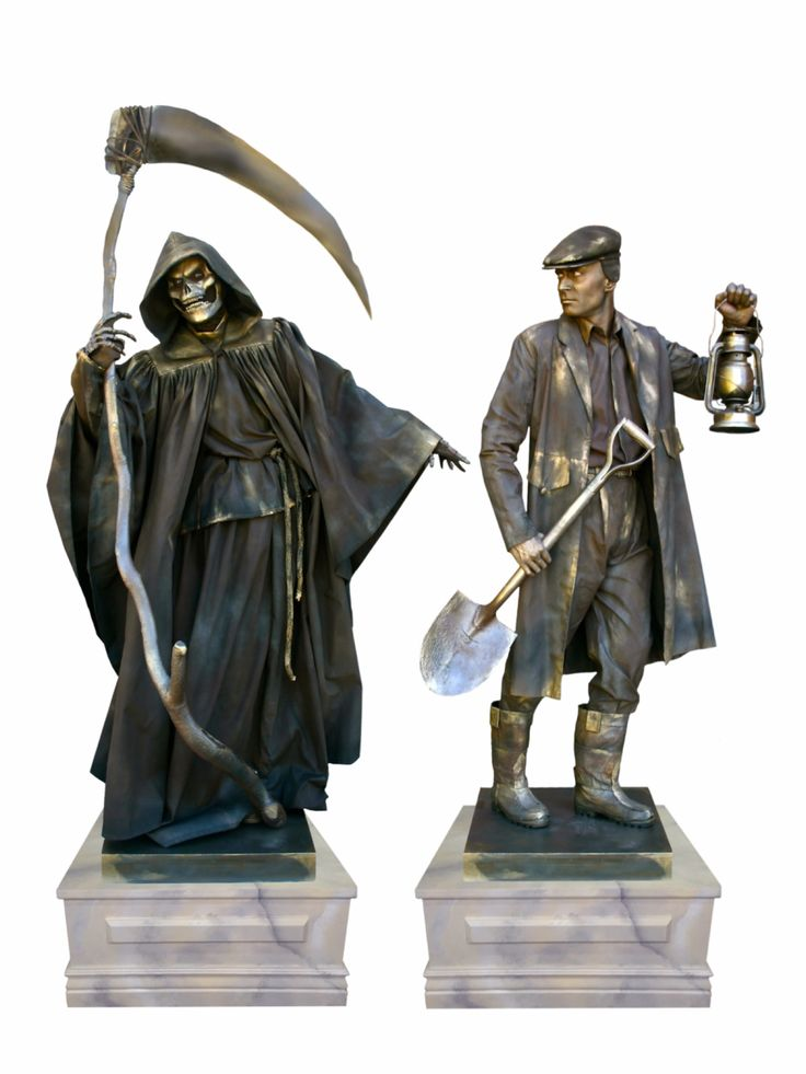 halloween living statues death duo from ten31 wemakepretendcom - Halloween Statues