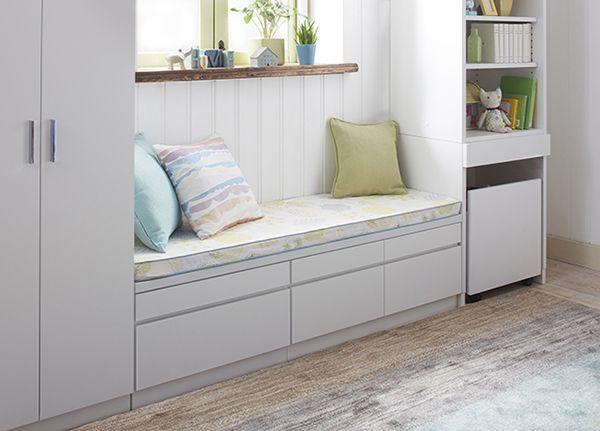 腰窓の下のスペースの収納アイデア|収納30選|家具・インテリアのIDC大塚家具