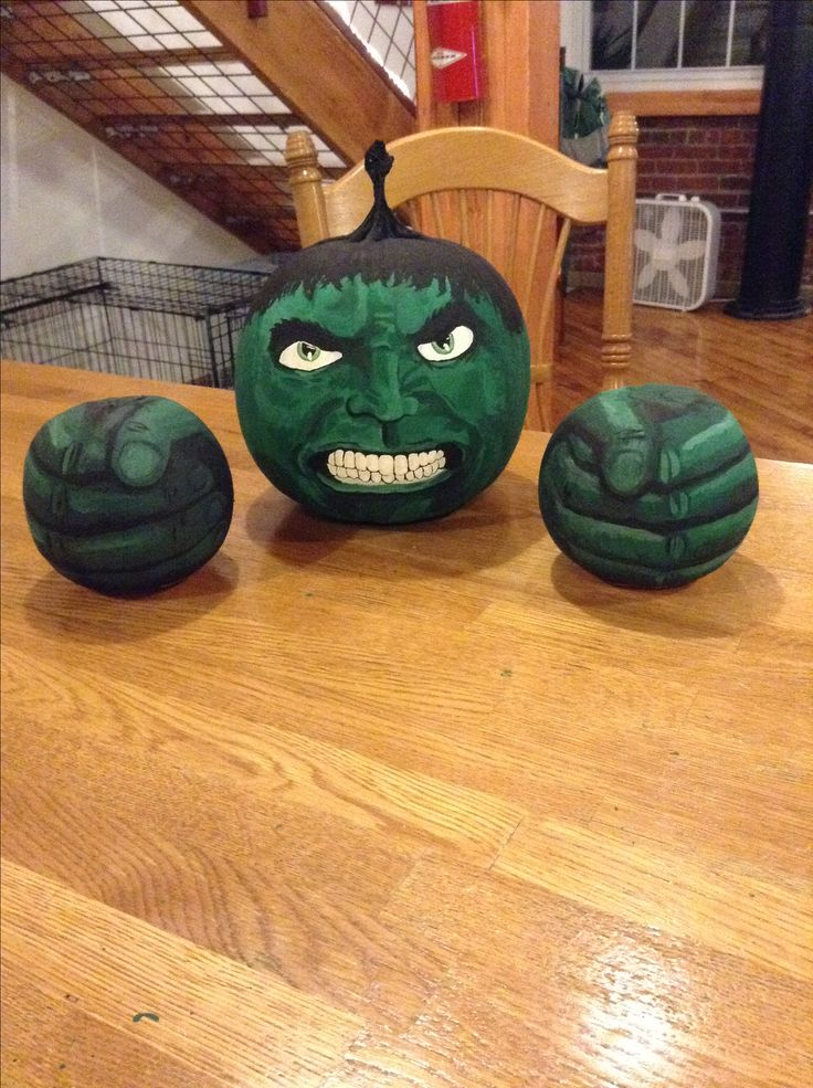 Painted Hulk Pumpkin For Contest At Work 2014 Marvel