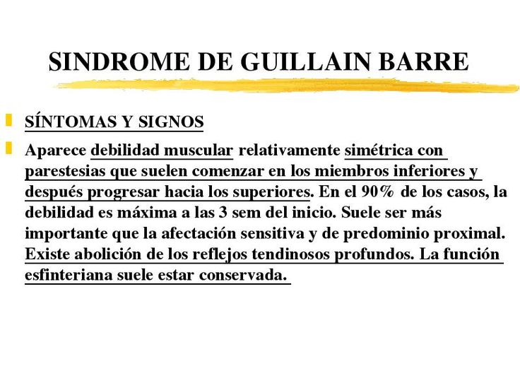 síndrome de guillain-barré sintomas