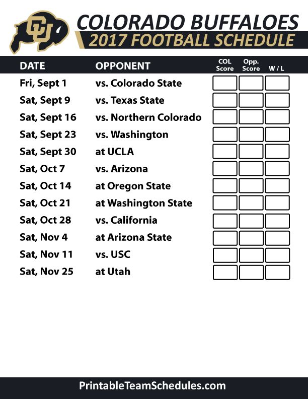 2017 Colorado Buffaloes Football Schedule  https://www.fanprint.com/licenses/air-force-falcons?ref=5750