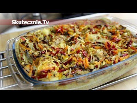 Zapiekany kurczak na ryżu z warzywami :: Skutecznie.Tv [HD]
