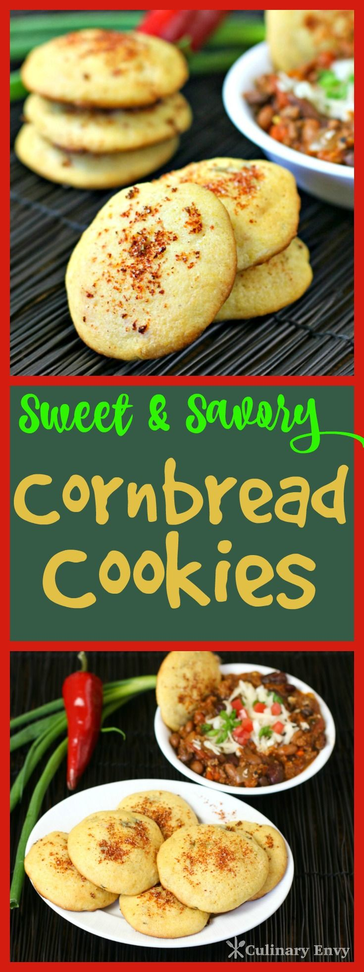 You just have to try these fun and flavorful Sweet and Savory Cornbread Cookies. They are buttery, sweet and slightly spicy. Kids LOVE them! Click to read more or Pin & Save for later.
