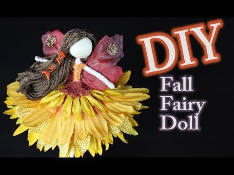 DIY Fall Fairy Doll with Fairy Wings - YouTube