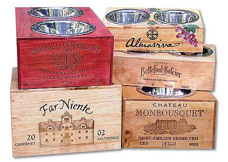 Elevated Dog Bowls & Dog Feeders   Wine Crate Pet Accessories